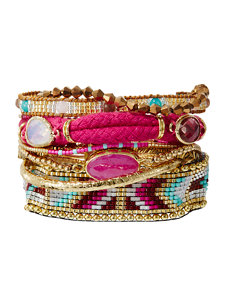 cerise aztec bracelet