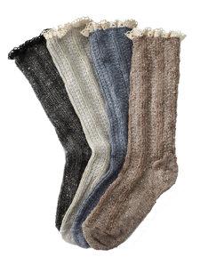 crochet heather lace sock