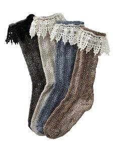 mountain lace heather sock