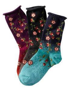 tibetan flowers socks