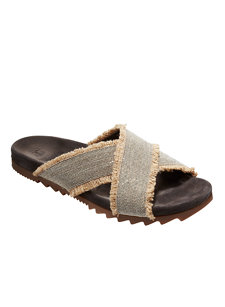 look 7 monili/jute fringe sandal