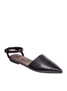 monili ankle strap black flat