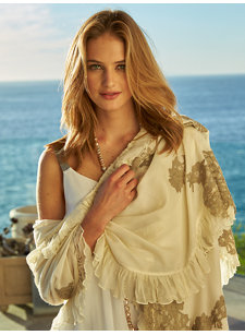 caron chantilly lace shawl