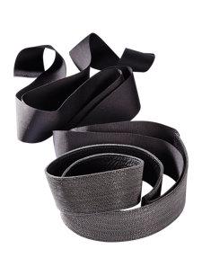 silver monili tie belt