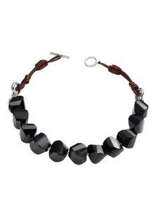 diade agate black necklace