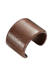 seta wide leather brown bracelet