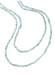 mika aquamarine rope necklace
