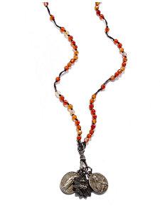 carnelian rosary necklace