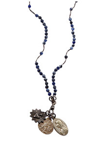 tourmaline rosary necklace