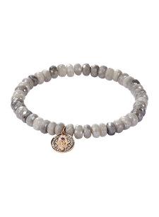 grey silverite hamsa bracelet