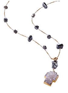 kate labradorite cross necklace