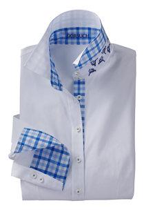 gaby check collar shirt
