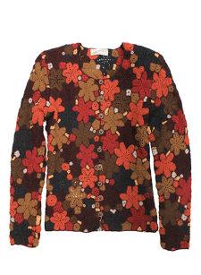 hippie dark red sweater
