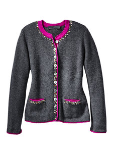 zella glamour sweater charcoal