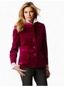 gretel pink velvet jacket