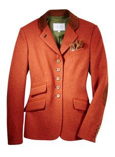 lara tweed jacket rust