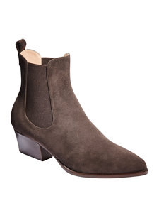 ann suede chelsea bootie