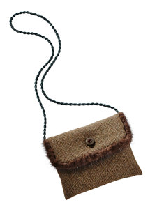 tweed brown bag