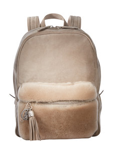bailey shearling backpack