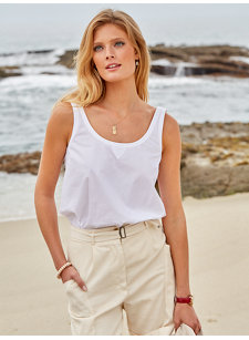 brielle sleeveless shirt