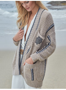 look 10 slouchy cardigan
