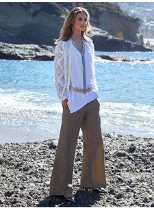 look 5 wide linen pant