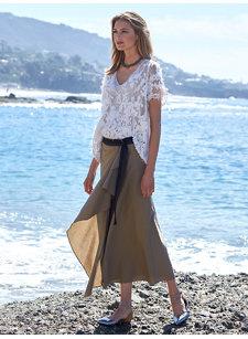 look 6 wrap skirt