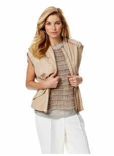 look 6 glove leather gilet