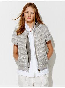 paillette zip vest