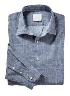 davide navy check shirt