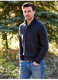 alberto shawl sweater