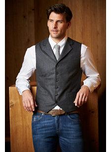 f15 look 3 waistcoat flannel antrhacite