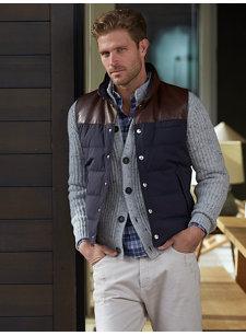 look 2 leather vest