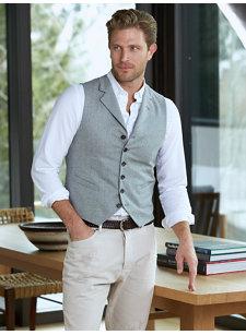 look 4 grey check vest