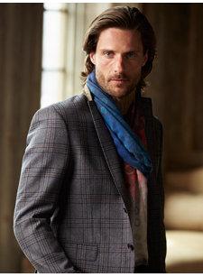 blue multi scarf