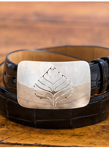 aspen leaf belt buckle
