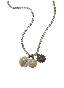 box chain icons necklace