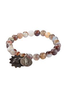 botswana agate icons bracelet