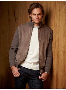 bastian suede cashmere sweater