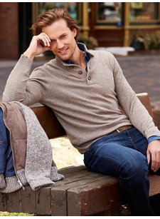 ronaldo 4 button sweater