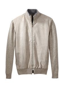 bomber zip sweater