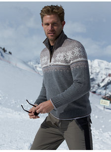 norwegian 1/4 zip sweater