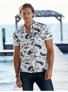 island palm shirt