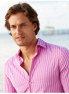 milo pink stripe shirt