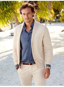 look 5 cotton button cardigan