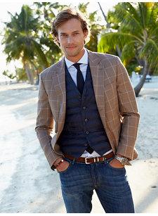 look 2 plaid wool linen silk sport coat
