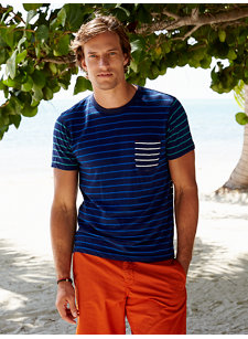 mix stripe t-shirt