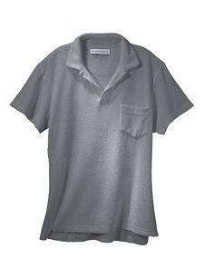 terry grey polo shirt