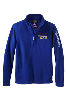 boys eddie 1/4 zip navy fleece