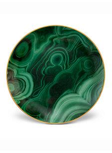 malachite canape plates (set of 4)